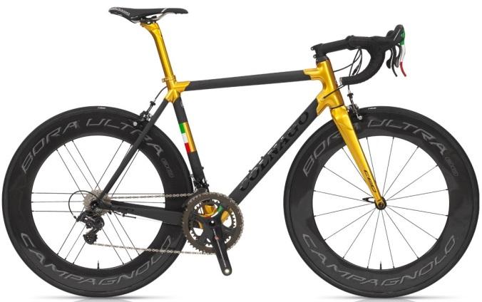 2016 Colnago C60_limited-edition_PLGL tri color gold italia super record