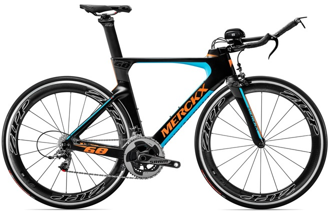 2016 Merckx Lugano68 tt light blue orange sram red