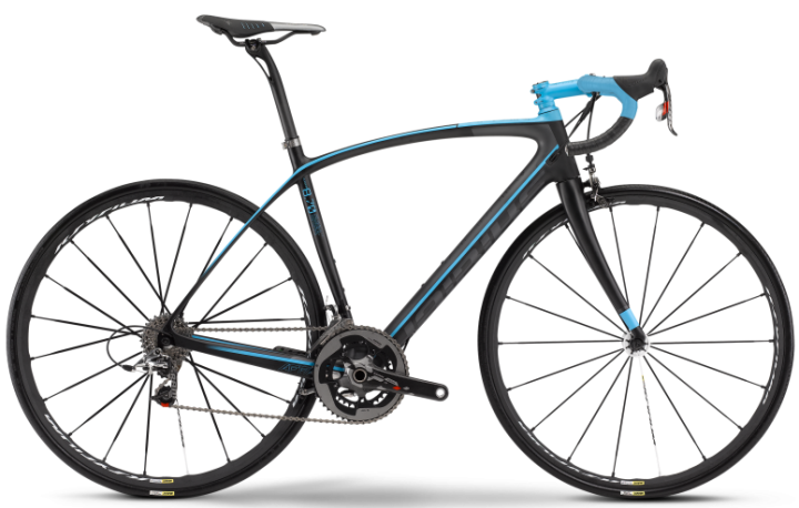 2016 Haibike Affair 8.70 black light blue sram red