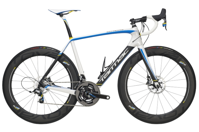 2016 Specialized Tarmac Power Twins series light blue disc sram red