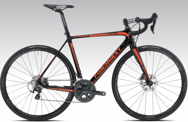 2016 Fondriest TFD orange black disc ultegra