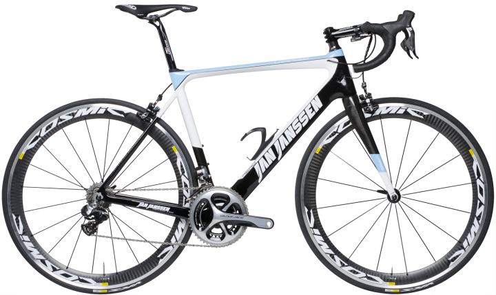 2016 Jan Janssen Virage light blue black dura ace