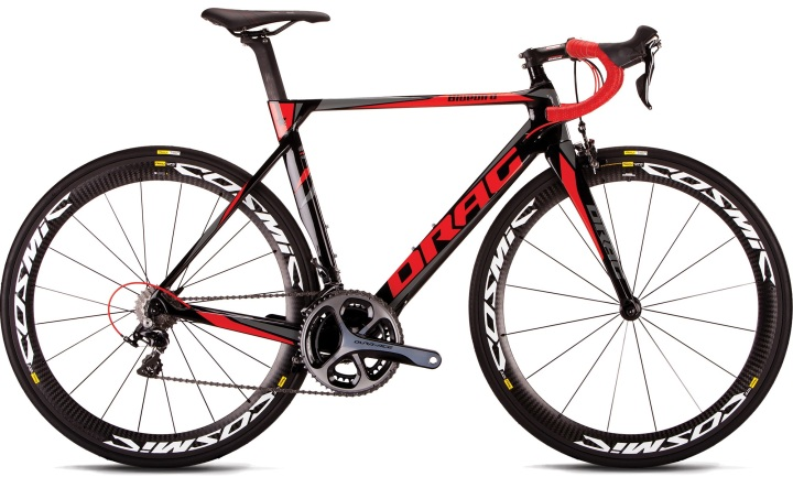 2016 Drag Bluebird Aero red black dura ace