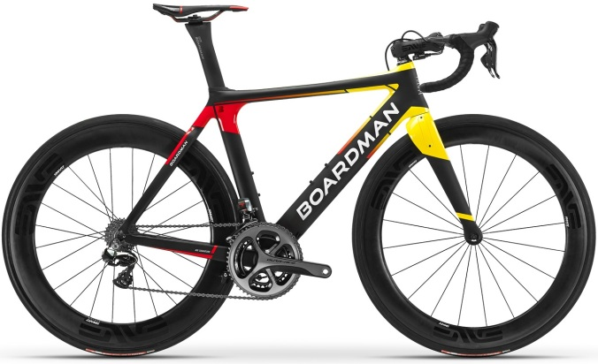 2016 Boardman Air Signature red yellow dura ace