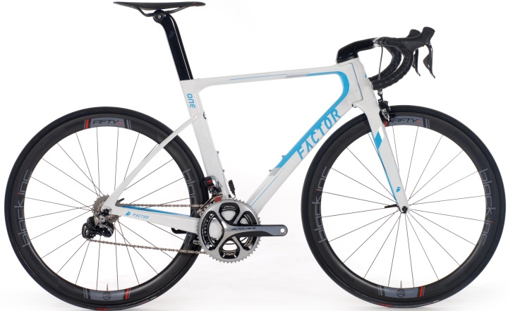 2016 Factor One-white light blue dura ace