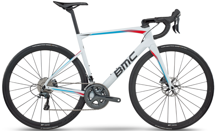 2017 BMC Roadmachine 01 white ultegra disc light blue red