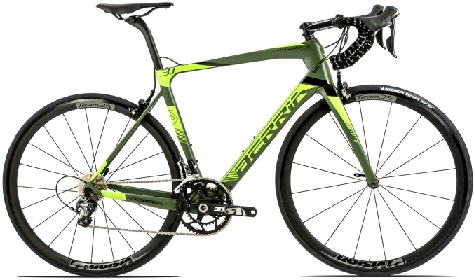 2017 Berria Belador Pro gree lime yellow dura ace