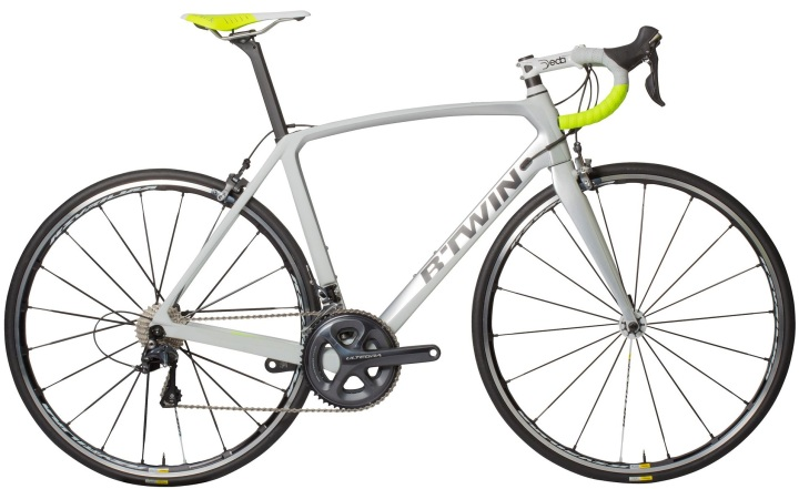 2017 Btwin Ultra 720 white lime ultegra