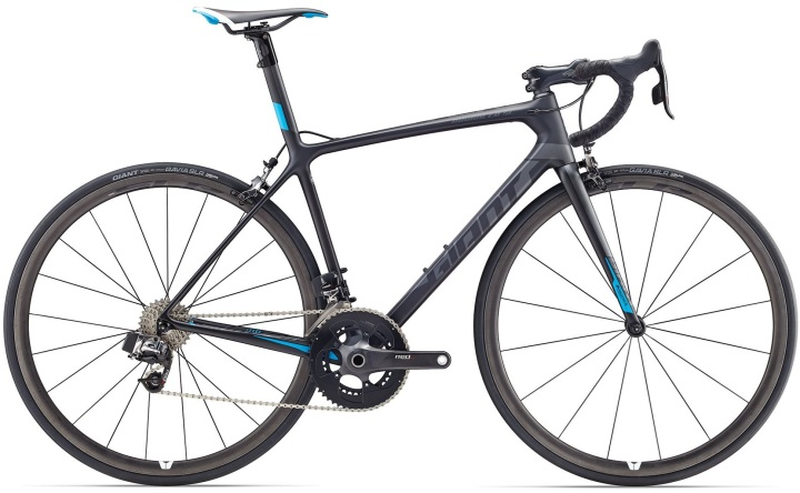2017 Giant tcr-adsl-0-red sram etap black light blue